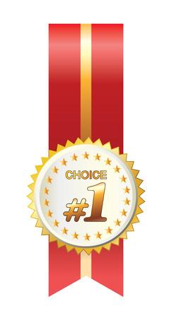 Beautiful vector gold award with ribbon Vector