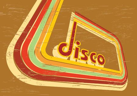 broun: Vector abstract disco broun background Illustration