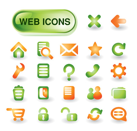 Beautiful icon set for web design Vector