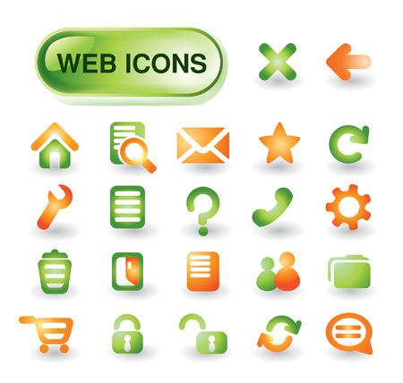 Beautiful icon set for web design Vector
