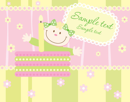 Baby arrival announcement card Stock Vector - 4527240