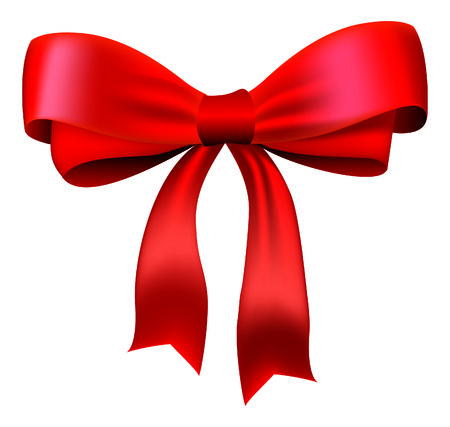 Vector red bow for design Illustration