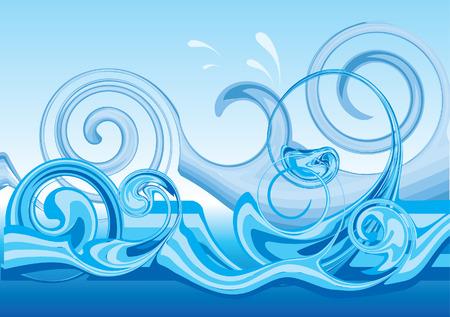 wave vector: Vector dtylised wave design