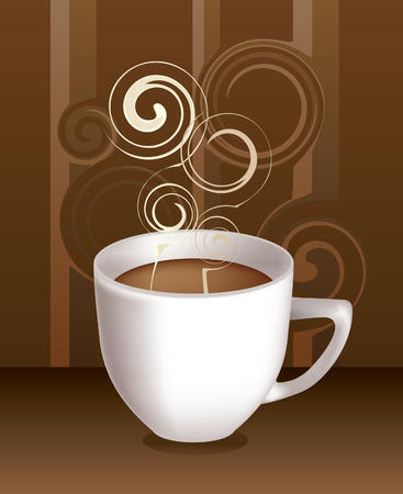 Vector cup of hot coffee Vector