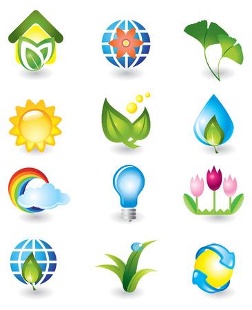 Set of design elements. Nature. Illustration