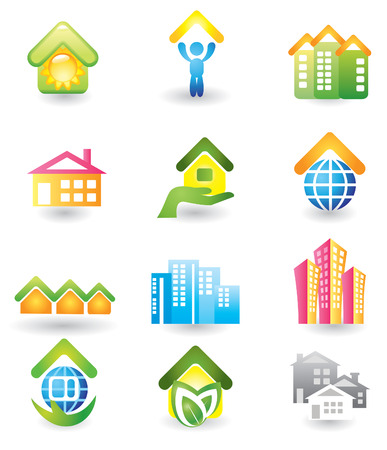 Real Estate - Vector Icon Set