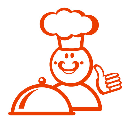 Cook icon red color for design