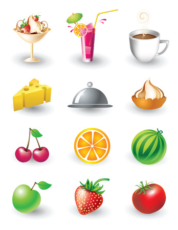 Vector set of food objects Vector
