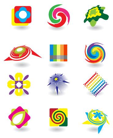 나선: 디자인에 대 한 추상 요소의 집합 일러스트