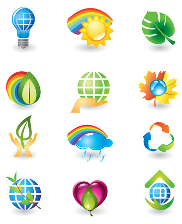 Set of design elements. Nature. Vector