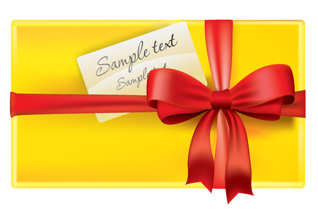 Vector gift box yellow color Vector