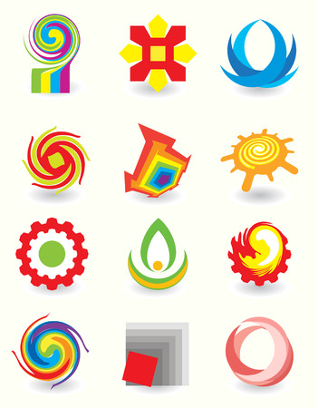circles vector: Set of elements for design Illustration