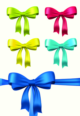 Set of vector bows for design Vector