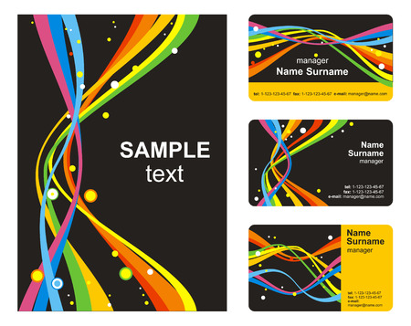 Business style templates with cards Vector