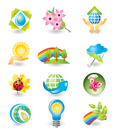 Set of design elements. Nature. Stock Vector - 4855774