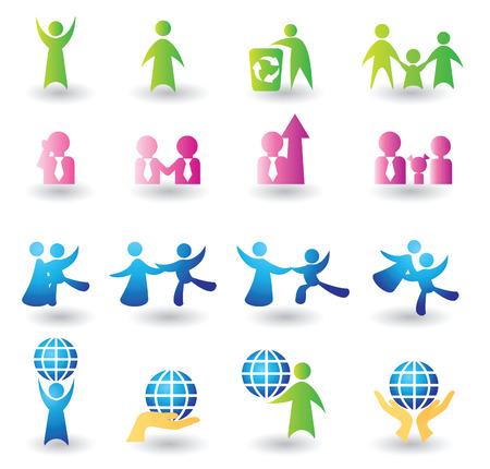 Ensemble de personnes pour la conception d'icônes