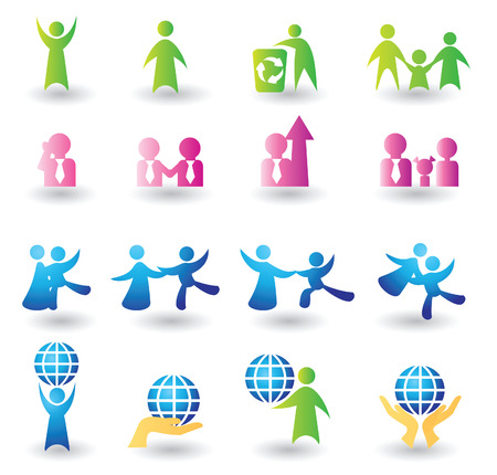 Set of people icons for design Stock Vector - 4865177