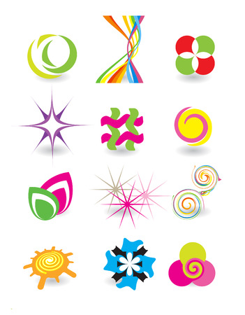 star logo: Set of elements for design Illustration