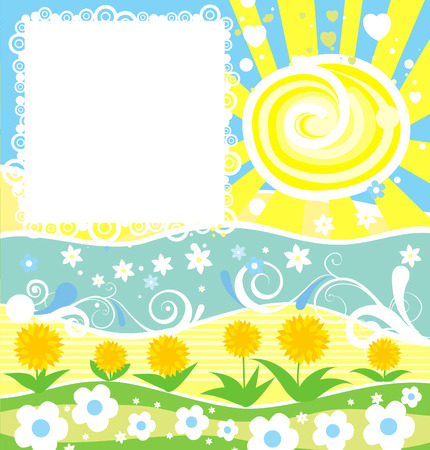Decorative summer frame for design Vector