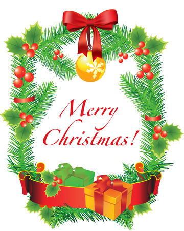 Vector Christmas decoration for design Vector