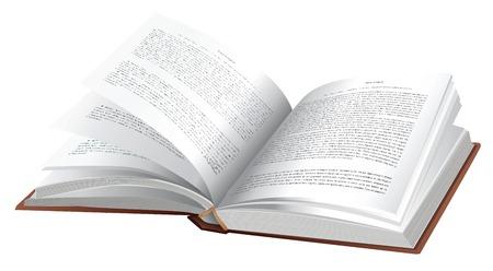 libro abierto: Libro de vector abierto sobre fondo blanco  Vectores