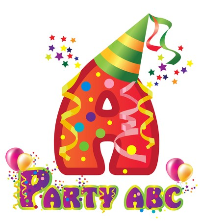 names: Decorative party letter with sample text for design