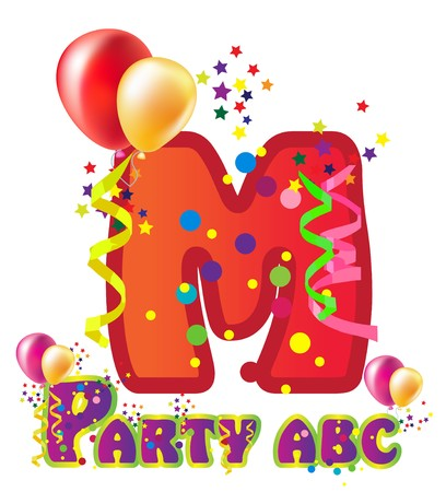 Decorative party letter with sample text for design   Vector