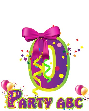 Decorative party  number with sample text for design   Vector