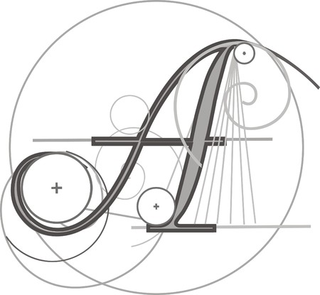 grammar: Decorative architectural letter for design