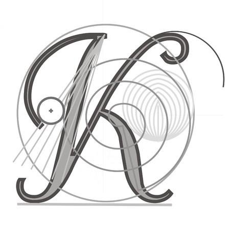 Decorative architectural letter for design  Vector