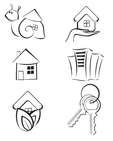 Real Estate - Vector Icon Set Stock Vector - 8977876