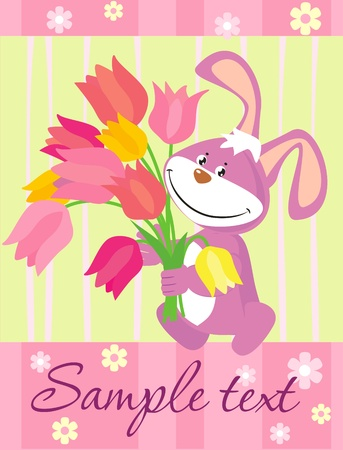 Easter illustration with a bunny Vector