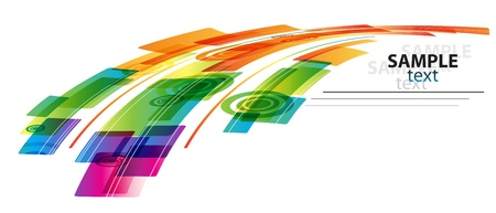 technology cover: Vector rainbow colored background  Illustration