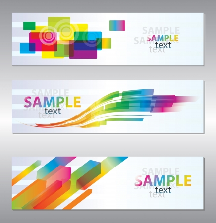 set of three header design  Stock Vector - 9443423