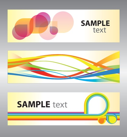 Set of abstract vector backgrounds for design