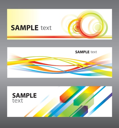 Set of abstract backgrounds for design Stock Vector - 10311126