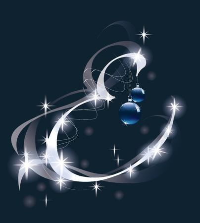 Carta de decoraci�n con adornos de Navidad de dise�o Foto de archivo - 11599658