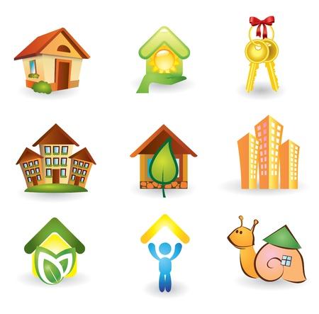 Real Estate - Vector Icon Set Vector