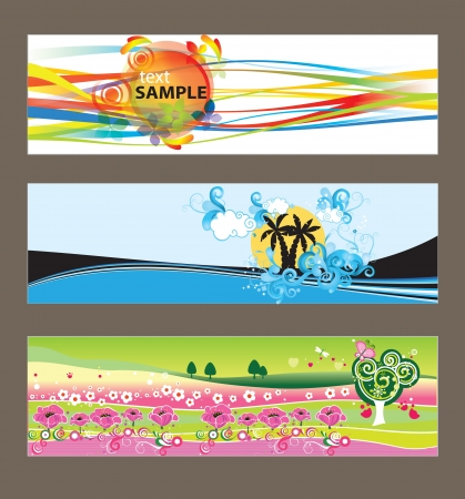 Set of abstract vector backgrounds for design Stock Vector - 13682103