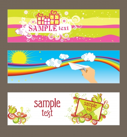 Three cards for design  Vector