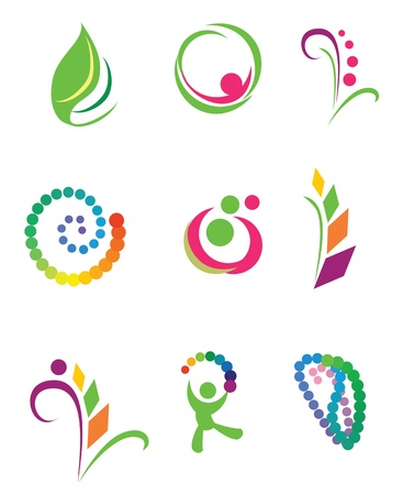 logos design: Set of vector design elements. Nature.