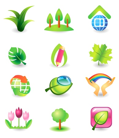 Set of  design elements  Nature  Vector