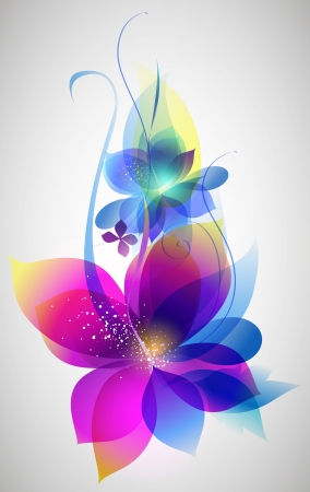 abstract flowers: Vector beautiful flower background art for design Illustration