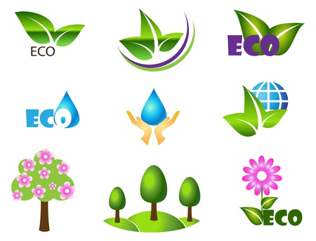 Ecology icon set. Eco-icons for design Vector