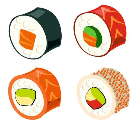 uni: Sushi set , eps10 vector format