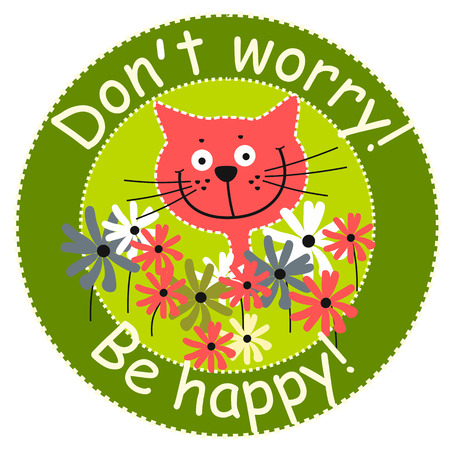 dont worry: Dont worry, be happy icon, vector Illustration