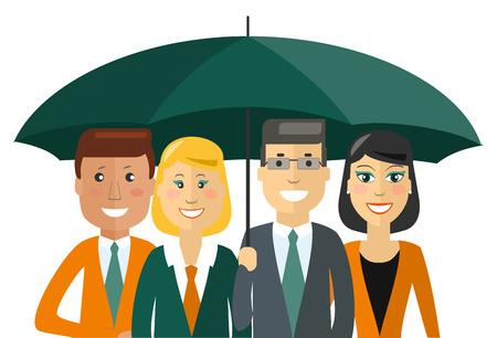 business team: Business team. Cartoon characters.illustration