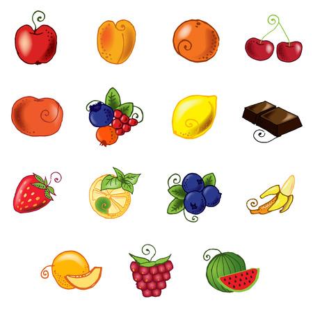 multivitamin: Fruits set for design