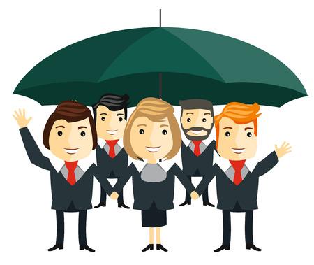 business team: Business team. Cartoon characters