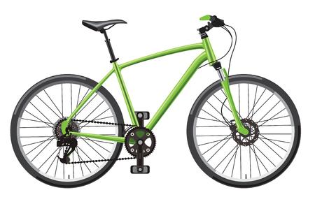 titanium: illustration of hardtail mountain bike